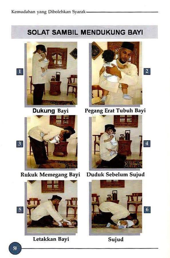 SOLAT SAMBIL MENDUKUNG BAYI