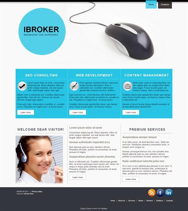 iBroker - Free Drupal Theme