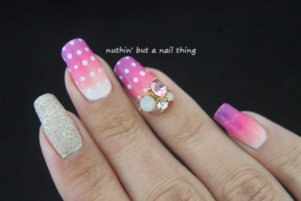 nuthin\' but a nail thing: Pink gradient nail art