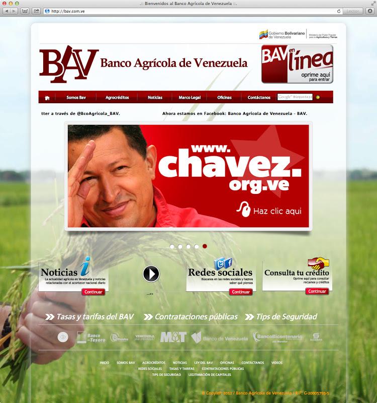 Banco agr cola de venezuela estrena nuevo portal web for Oficina del banco de venezuela