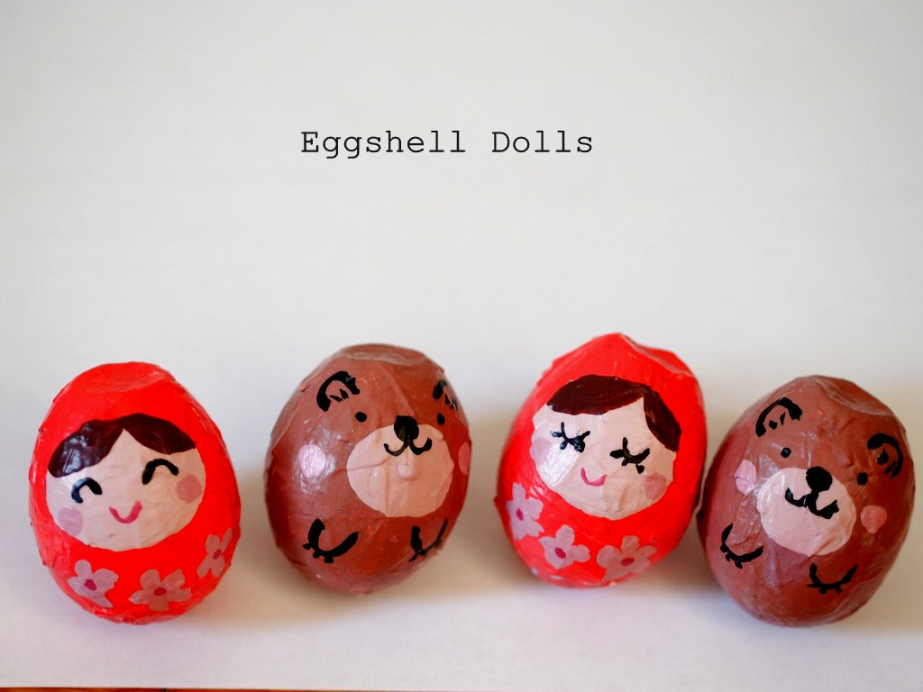 make eggshell dolls pink stripey socks