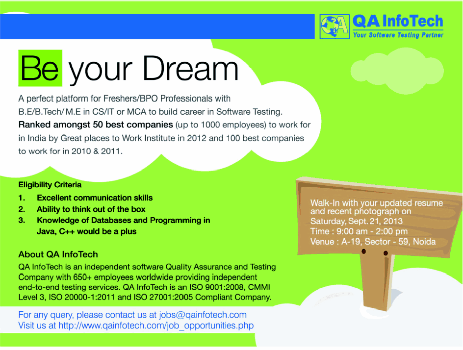 Jobs in QA InfoTech Software Quality Assurance and Testing Company ...
