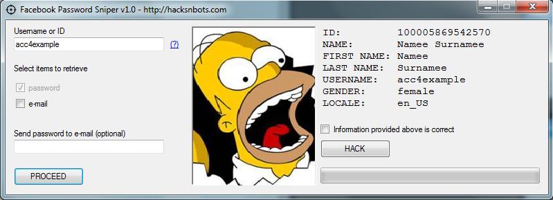 pirater compte facebook - password
