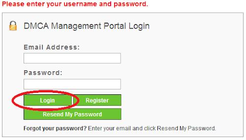 Mendaftarkan Blog di DMCA Protection
