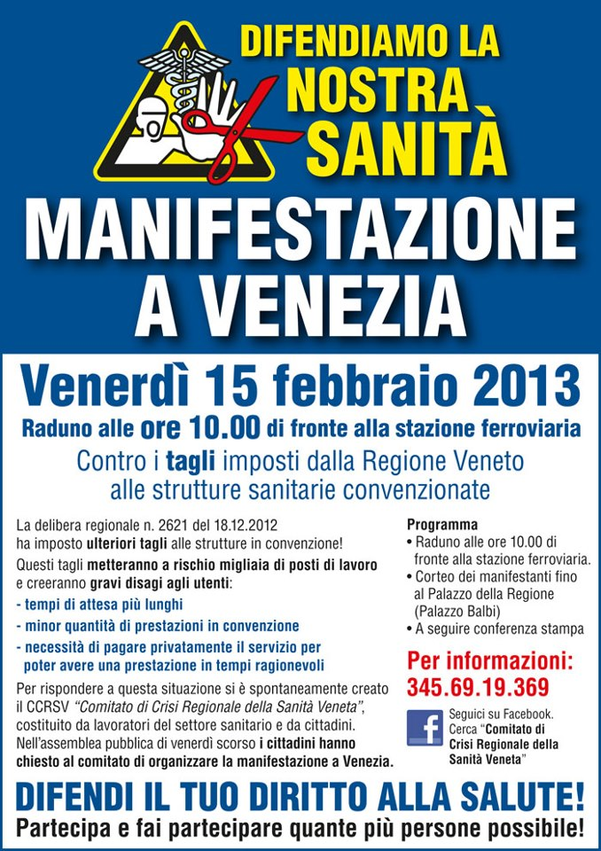 CCRSV - volantino manifestazione venerdì 15/02/2013 ore 10-15