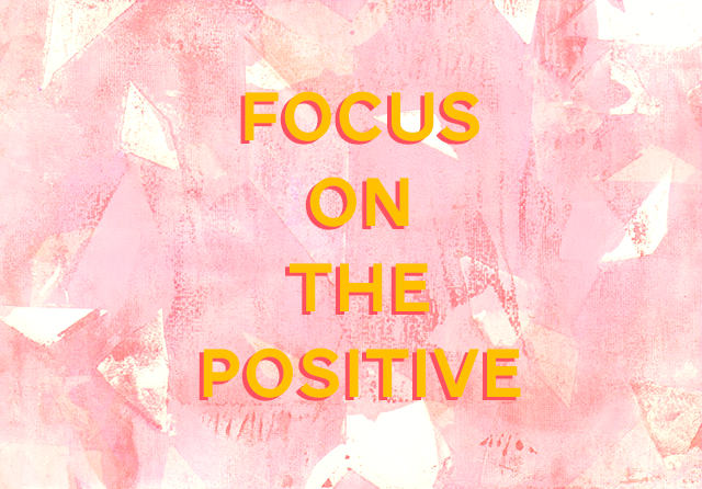 focus on the positive illustration by laura redburn