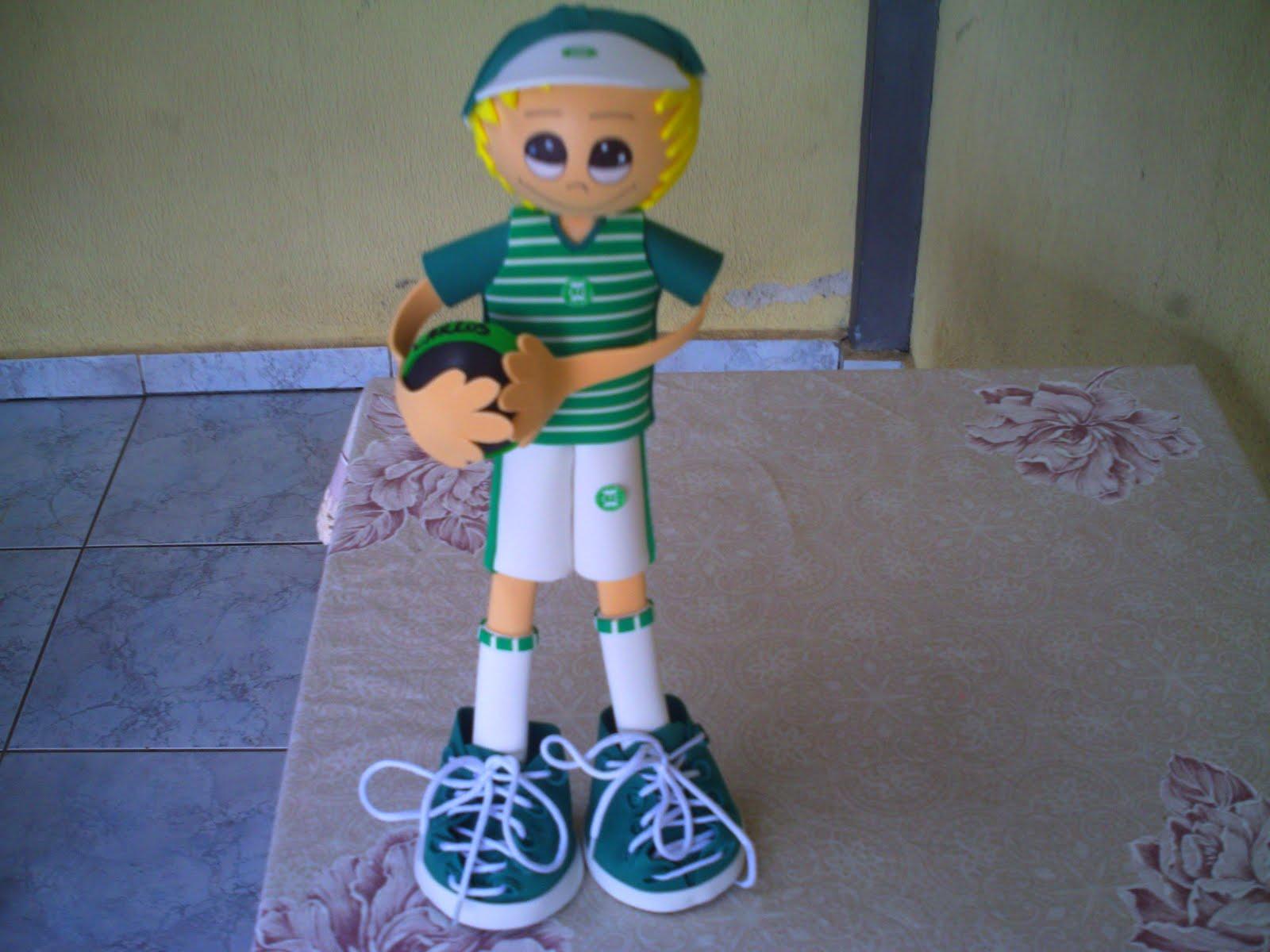 Boneco De EVA Time De Futebol Do Coxa