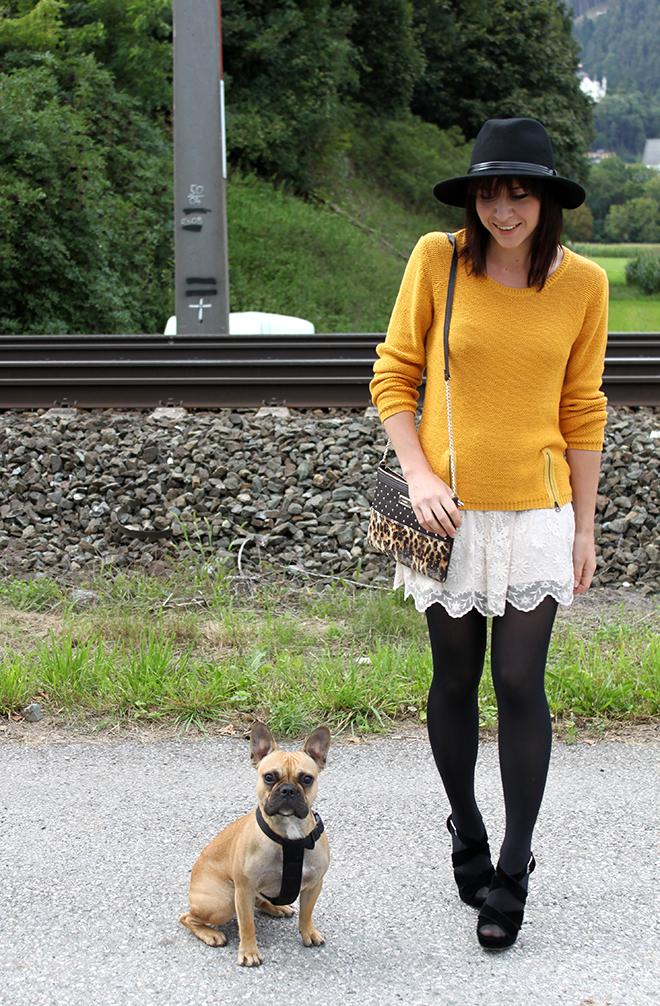 outfit trend fashionblogger senfgelb takko hm spitze highheels mango clutch leopard 06