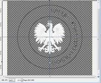 Okrągły napis utworzony w Gimp-ie - zrzut ekranu