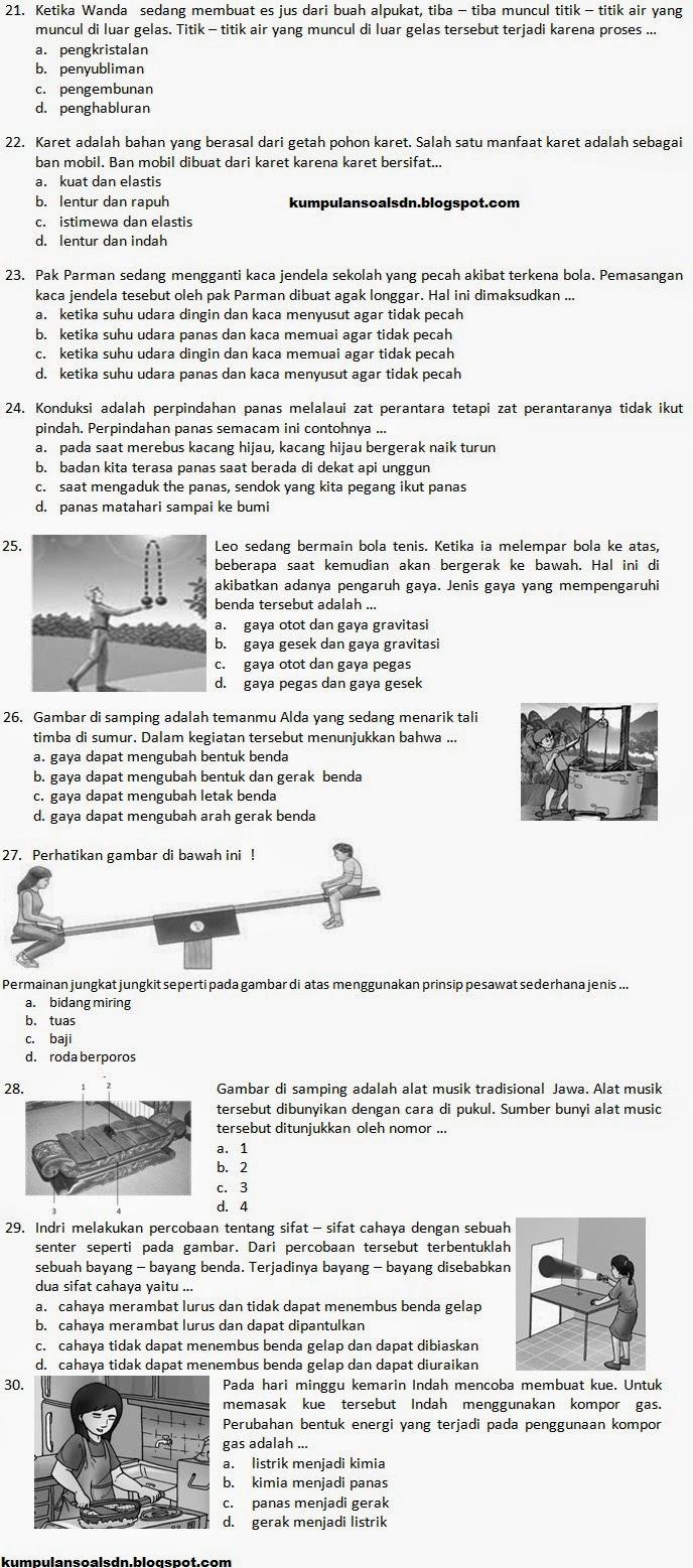 Soal Terusan Latihan Un Ipa Kelas 6 Sd Ta 2013 2014 Kumpulan Soal Sd