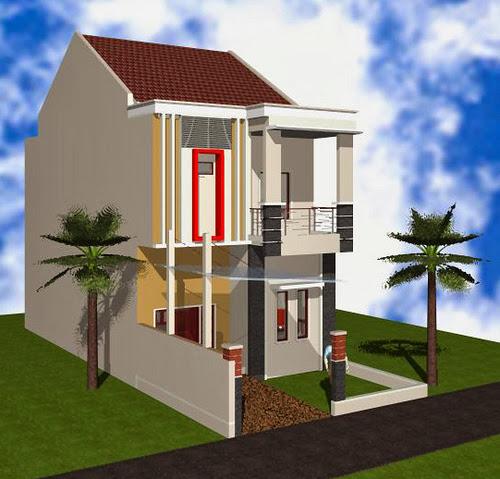 Gambar Model Rumah Kecil Bertingkat Minimalis