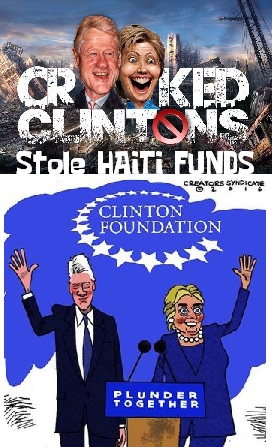 Clintons Helped Steal Haiti Funds?