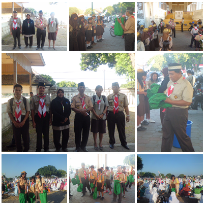 Keterlibatan Pramuka SDN Keputran A dalam kegiatan PHBI Kecamatan Kraton