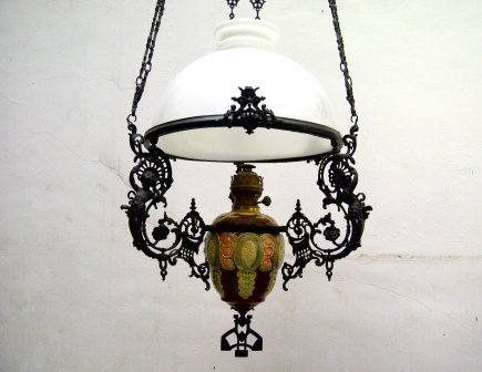 STUDIO ANTIQUE: MAJOLICA PORCELAIN HANGING LAMP 40 - OXIXHPM