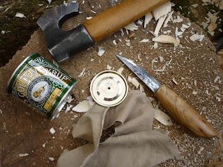 bushcraft knife char cloth
