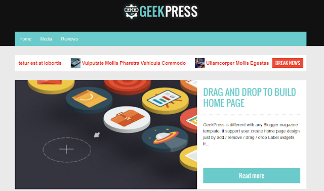 Geek Press Template