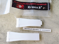 RUBBER B CAOUTCHOUC VERITABLE STRAP WHITE 20mm FOR ROLEX EXPLORER II 42mm REF 216570