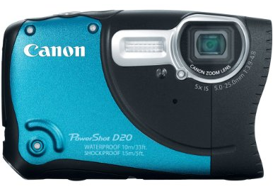 Canon PowerShot D20 amazing body