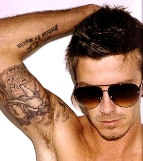 Nadud le david beckham tattoos and the meaning for David beckham tattoo sleeve