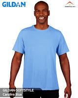 Kaos Polos Gildan Soft Style blue