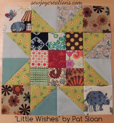little wishes star block from Pat Sloan's scrap challenge