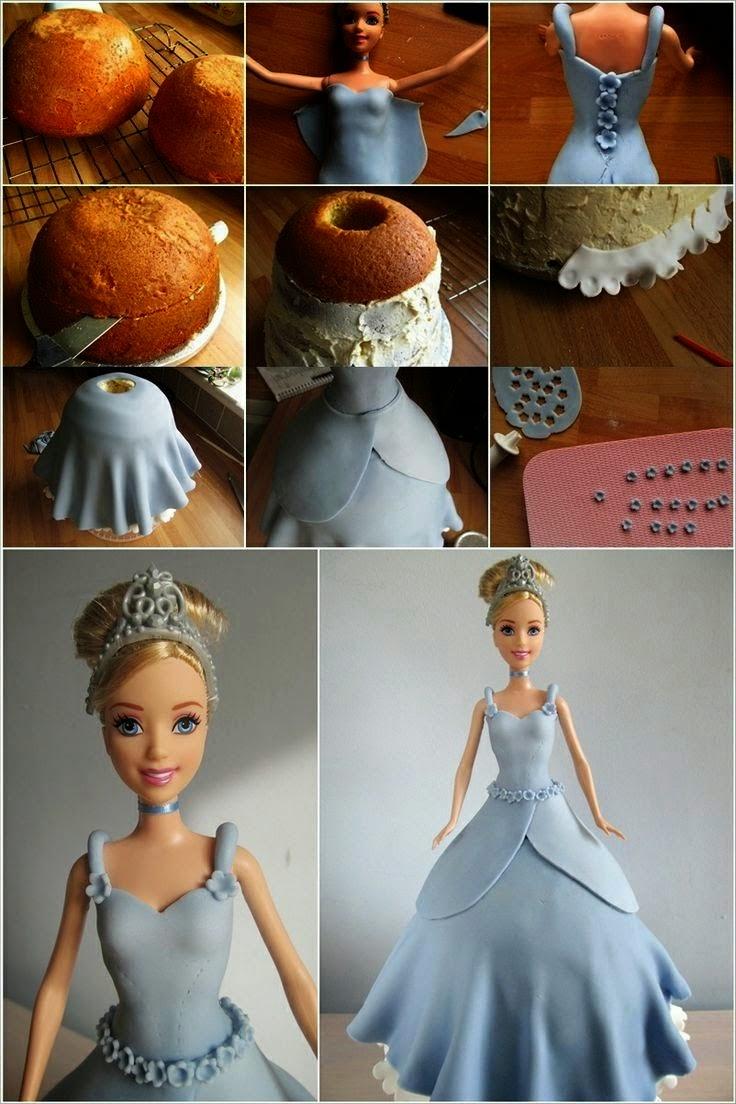 Como Fazer Bolo Pasta Americana Boneca barbie