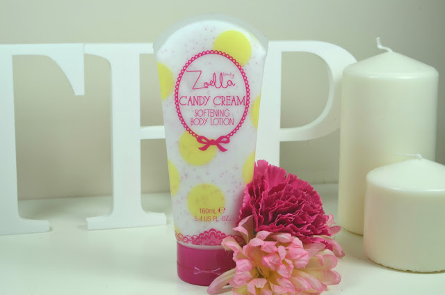 Zoella - Zoella Beauty - softening Body Lotion - candy cream - review - swatch - body cream - superdrug - body skincare - Tutti Fruity