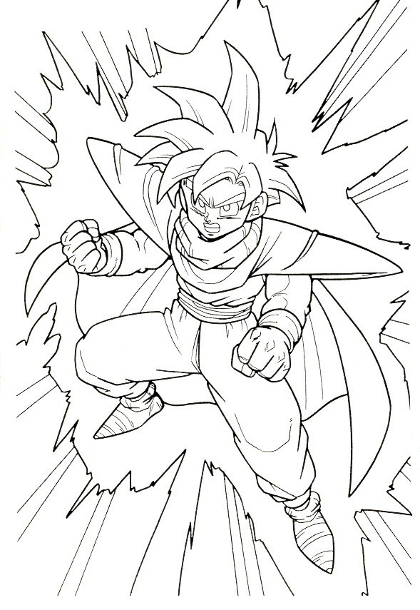 Gohan como super sayayin para colorear - Dibujo Views