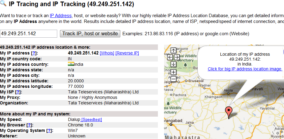 Map My Ip Address Lookup Web History In Google: My Ip Address Location Map At Slyspyder.com