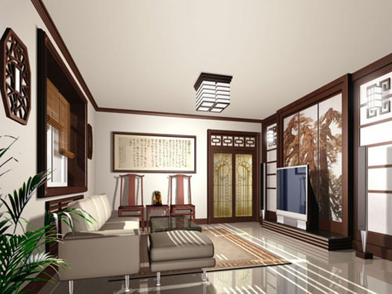 Asian interior design interior home design for Modern chinese house design