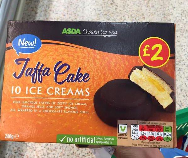 grocery gems new instore asda jaffa cake ice creams a. Black Bedroom Furniture Sets. Home Design Ideas