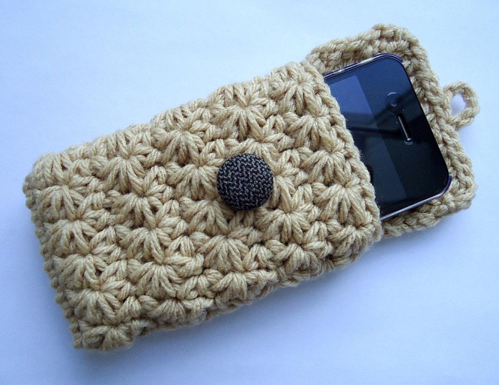 Receitas de Trico e Croche: Pap porta celular em croche