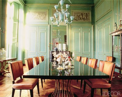 benedetina: dining rooms in green