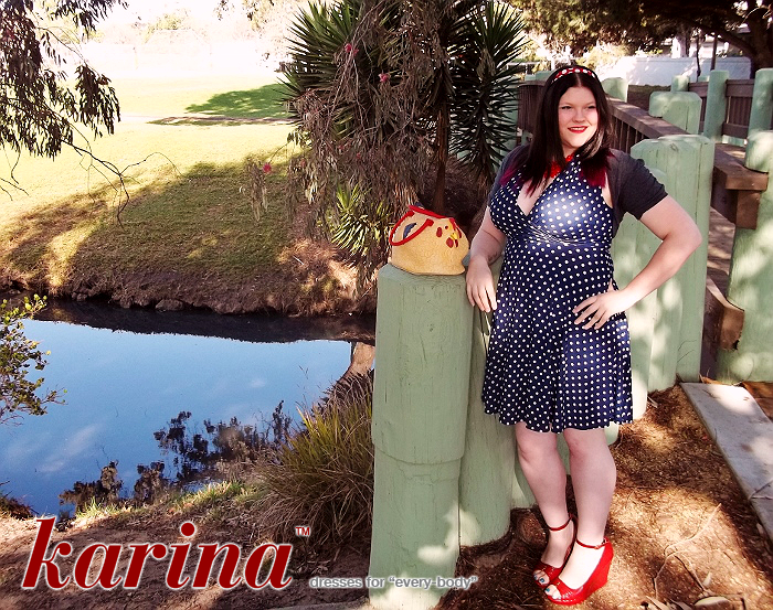 Karina Dresses Nora in Navy With White Polka Dots