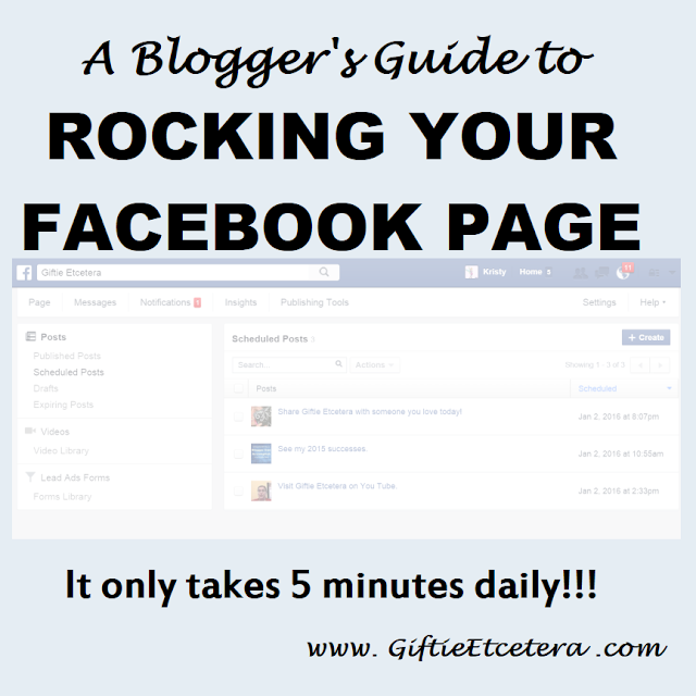facebook, scheduling on Facebook; Facebook for Bloggers