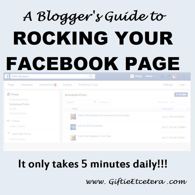 facebook, scheduling on Facebook; Facebook for Bloggers
