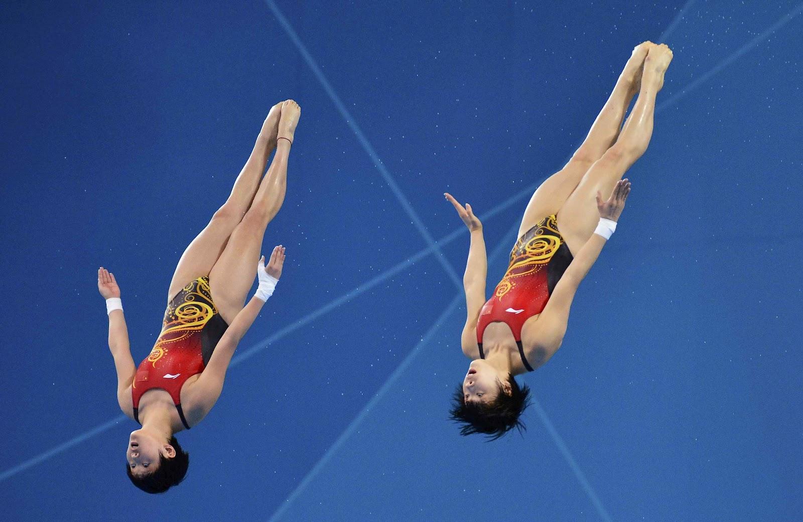 K Chen T Bingen divers 2012 olympic 10m synchronized diving