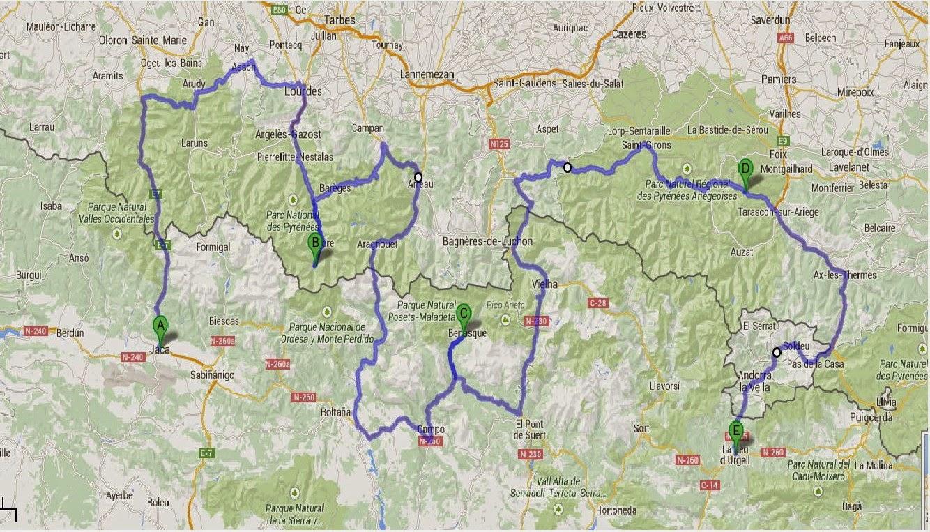 Ahora vengo viajes y rutas en moto pirineos 2014 - Casa en el pirineo ...