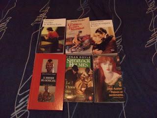 Angela Huth, Juliette Morillot, Margaret Mitchell, James F. Cooper, Conan Doyle, Jane Austen