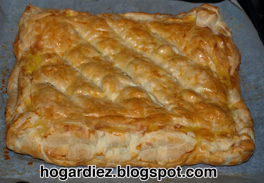 Hogar diez empanada de hojaldre - Hojaldre de puerros y gambas ...