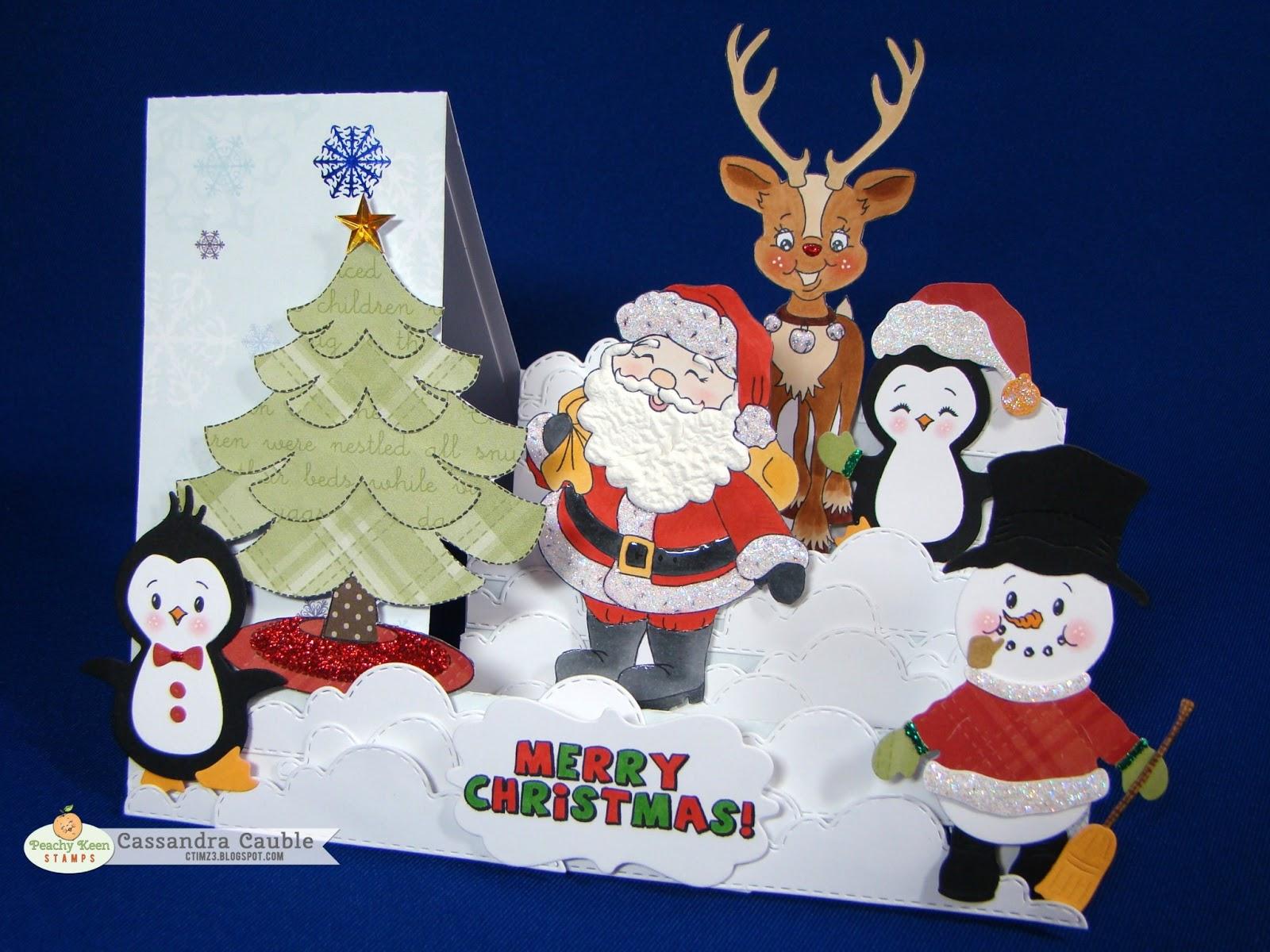 Peachy Keen Stamps Cassandra Cauble Merry Christmas