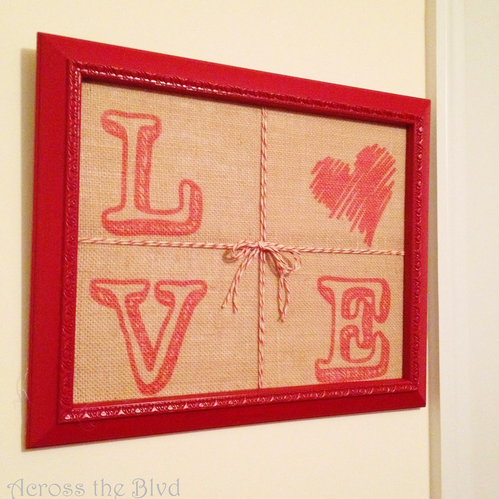 Framed Valentine's Love Sign