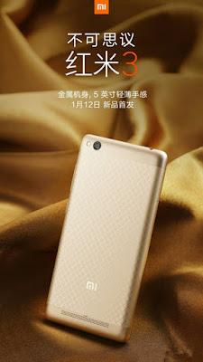 Xiaomi Redmi 3 Fill Metal Body