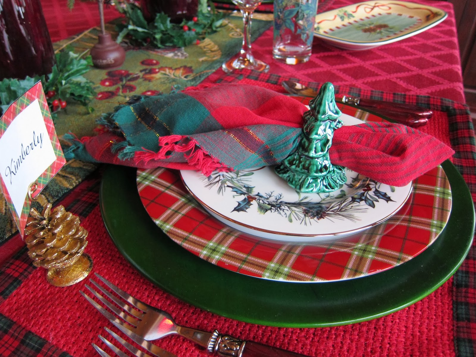 A Graceful Table Plaid Tidings Of Comfort And Joy