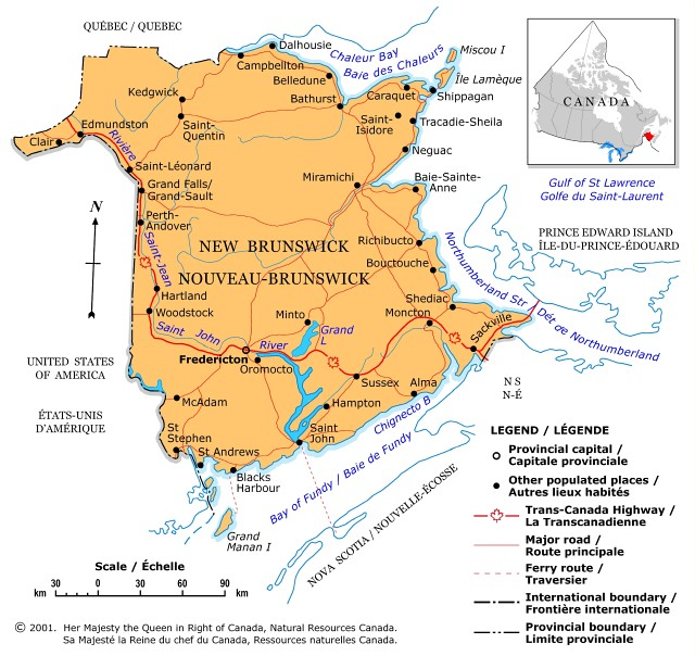 Map of Canada Regional City in the Wolrd New Brunswick Map – Regional Map of Canada