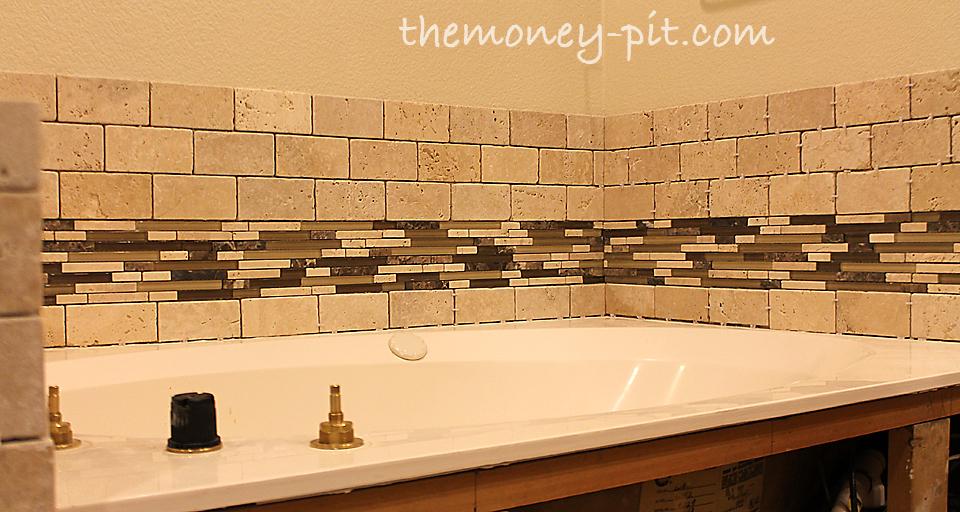 Master Bathroom Week 7: Tub Surrond Tiling