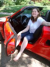 Barefoot Girl Car Woman