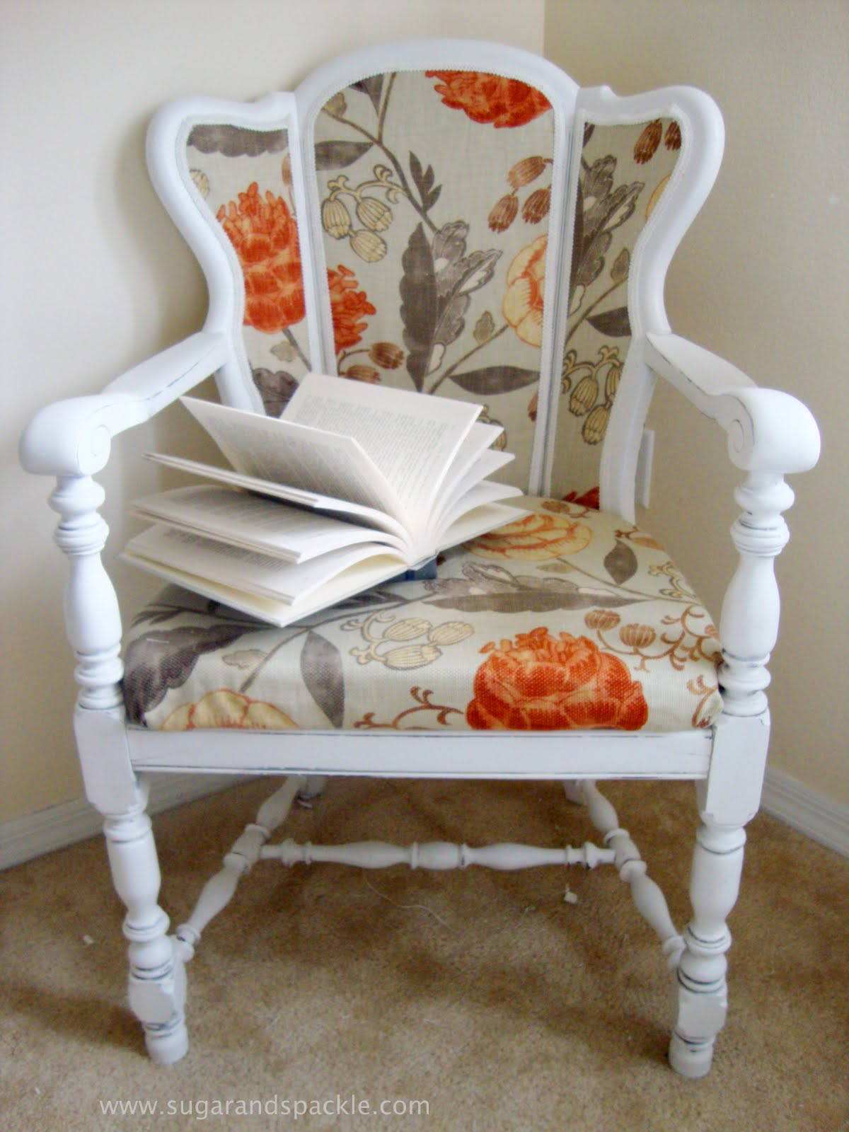 Before U0026 After: DIY Upholstered Cane Back Chair