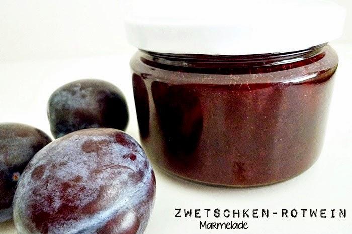 Zwetschken-Rotweinmarmelade