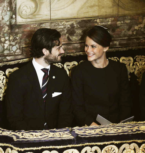 Prince Carl Philip and Sofia Hellqvist the Cathedral of Stockholm